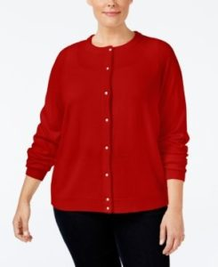 Red Cardigan Plus Size