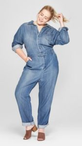 Women's Plus Size Denim Jumpsuit