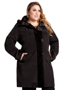 Women's Plus Size Hooded Coat