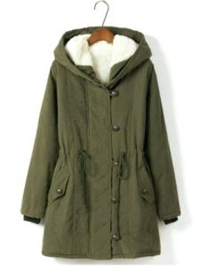 Womens Plus Size Hooded Coat