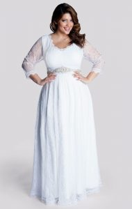 Dress to Wear to a Wedding with Sleeves Plus Size