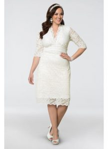 White Guest Dress for Wedding in Plus Size