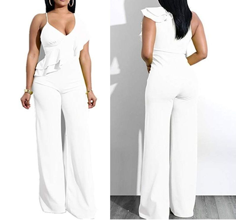 White Jumpsuit Clubwear for Women