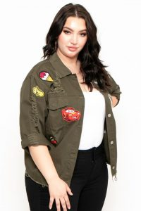 Army Fatigue Jacket Plus Size