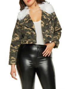 Army Fatigue Plus Sized Jacket