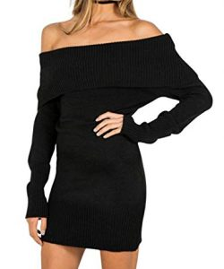 Black Plus Size Knitted Dress
