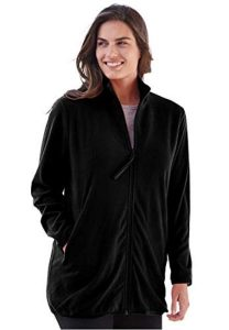 Black Plus Size Utility Jacket