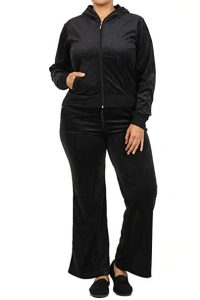 Black Sweat Suit in Plus Size
