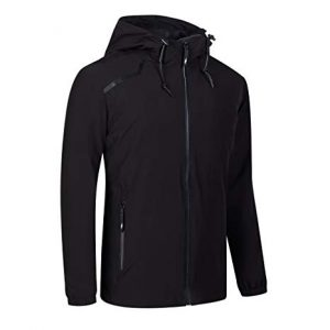 Black Windbreaker Jacket In Plus Size