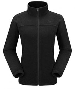 Black Women Plus Size Fleece Jacket