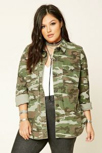 Camo Utility Jacket Plus Size