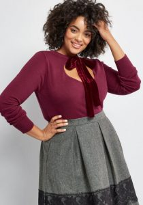Cropped Cardigan Plus Size