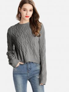 Cropped Sweater Tops In Plus Size