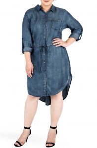 Denim Shirt Dress Plus Size