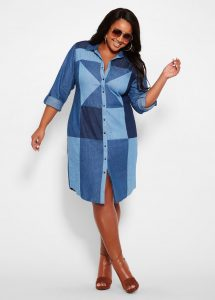 Denim Shirt Dresses In XL