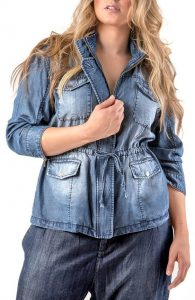Denim Utility Jackets Plus Size
