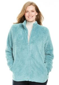 Fleece Jacket for Plus Size Female