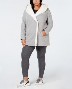 Fleece Lined Hooded Jacket Women
