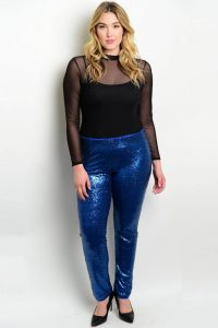 Glitter Pants For Plus Size