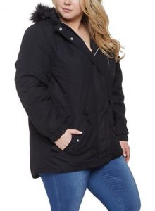 Hooded Anorak Jackets For Plus Size