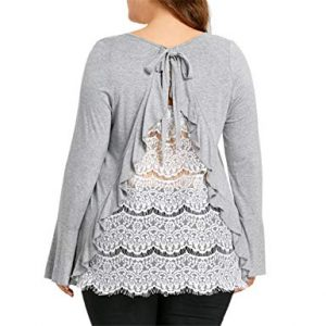 Lace Tops In Plus Size