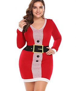 Ladies Knitted Dress In Plus Size