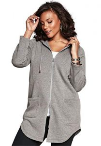 Ladies Plus Size Fleece Jacket