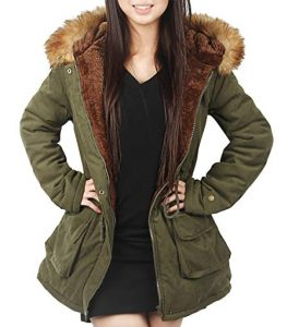 Lined Fur Parka Jackets Plus Size