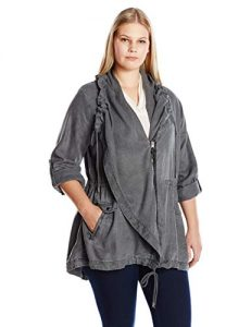 Long Utility Jacket Plus Size