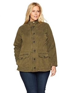 Olive Green Plus Size Utility Jacket