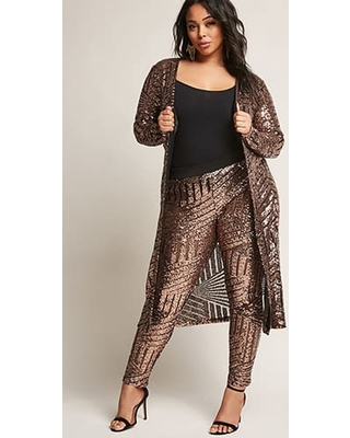 cbbca8f77be Plus Size Glittered Pants. Oversized Sequin Pants