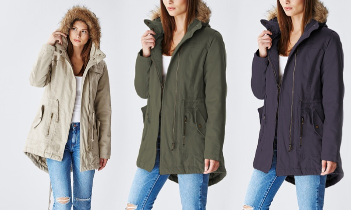 Plus Size Anorak Coats