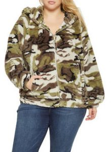 Plus Size Army Fatigue Blazer