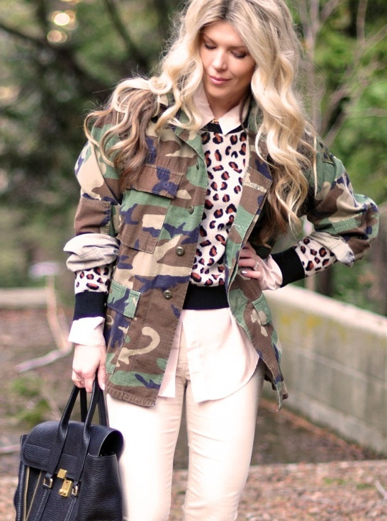 Plus Size Army Fatigue Jackets