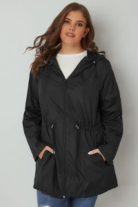 Plus Size Black Parka Jackets