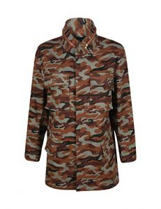 Plus Size Camo Utility Jacket