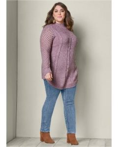 Plus Size Chunky Turtleneck Sweaters