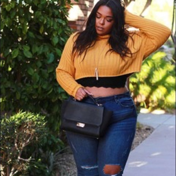 Plus Size Cropped Sweaters