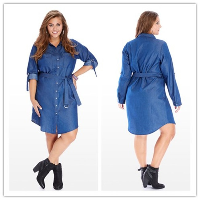 Plus Size Denim Shirt Dresses