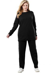 Plus Size Fleece Sweatsuit Set for Women
