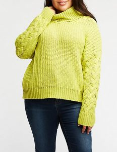 Plus Size Knitted Turtleneck Sweaters