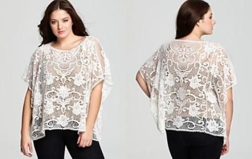 Plus Size Lace Top