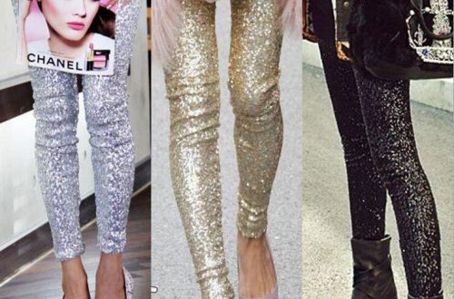 Plus Size Sequin Leggings for Women