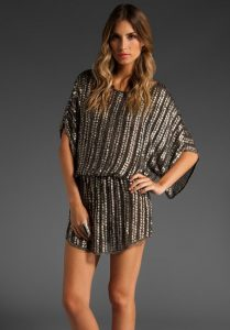 Plus Size Sequin Tunic For Women