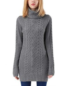 Plus Size Turtleneck Cable Knit Sweater