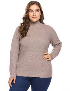 Plus Size Turtleneck Sweater Full Sleeves