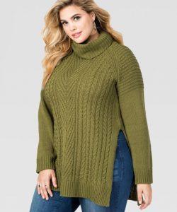 Plus Size Turtleneck Sweater for Women