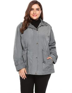 Plus Size Women's Windbreaker Jackets
