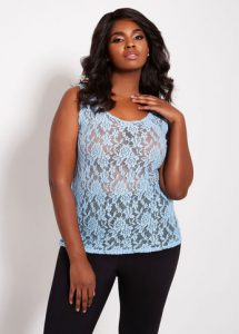 Plus Sized Lace Tops