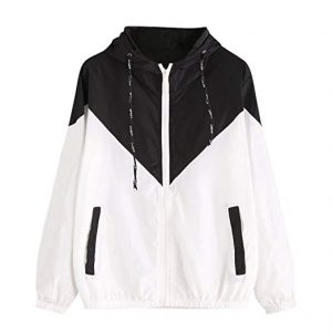 Plus Sized Windbreaker Jacket